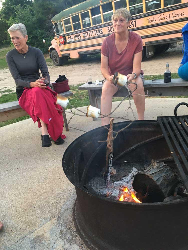 Fire pit at Calamus Lodge