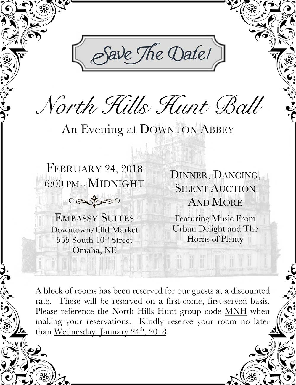 NHH Hunt Ball Save The Date
