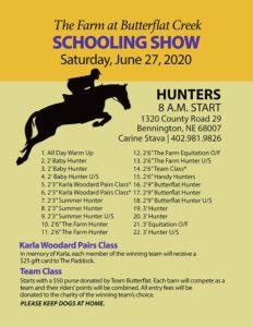 Schooling Show Flyer - Hunter Classes