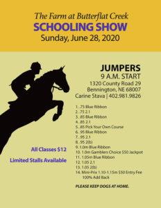 Schooling Show Flyer - Jumper Classes