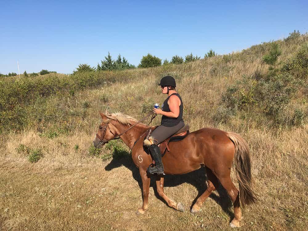 Trail ride to the beach. Holly Barrett